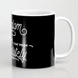 Monoline Inspiration in Black Coffee Mug