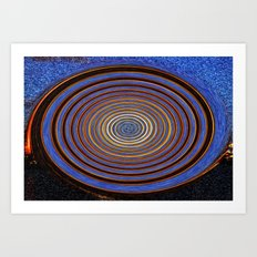 Firework Wheel Art Print