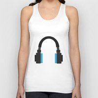 headphones Tank Tops featuring Headphones by isaias_yoyo