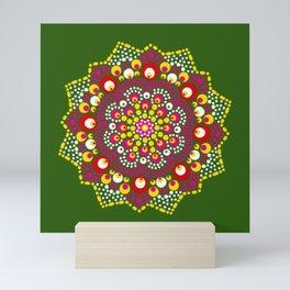 Ethnic Dot Painted Mandala Design Mini Art Print