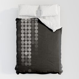 Shades Of Grey Dot Pattern - Syfy - Black & White - Matrix Comforters