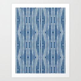 Shibori Tribal #society6 #shibori Art Print