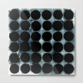 WATERCOLOUR DISCS: Indigo Metal Print