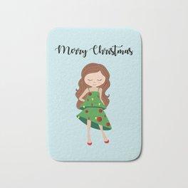 I am a Christmas Girl - Christmas tree inspired Bath Mat