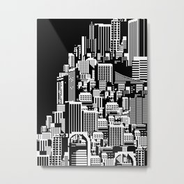 Metropolis Cityscape collage Metal Print