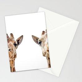 Funny Giraffe Portrait Art Print, Cute Animals, Safari Animal Nursery, Kids Room Poster, Wall Art Stationery Cards