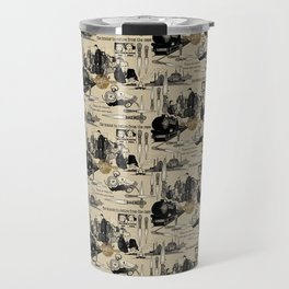 Murder on the Orient Express (Agatha Christie) Toile de Jouy Travel Mug