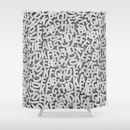 Learn the alfabet Shower Curtain