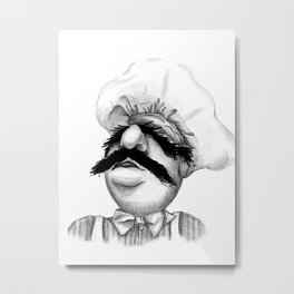 "The Cries of ""Bork Bork Bork"" Metal Print"