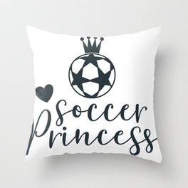 New Soccer Princess Soccer Gift Throw Pillow