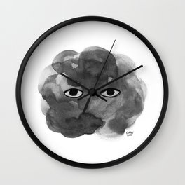 Melancholy Cloud Wall Clock