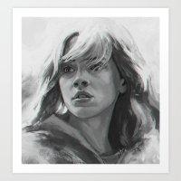 hermione Art Prints featuring Hermione  Granger by Ilya Brovkin