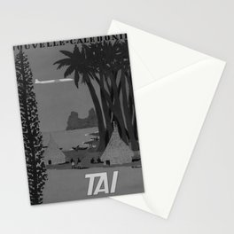 retro classic TAI Nouvelle Caledonie poster Stationery Cards