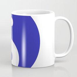 Yin & Yang (Navy Blue & White) Coffee Mug
