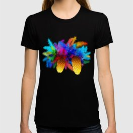 Fir tree branch with cones T-shirt