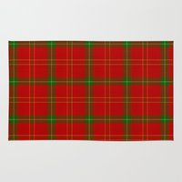 plaid Area & Throw Rugs featuring Christmas Plaid by apgme