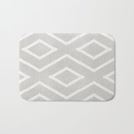 Stitch Diamond Tribal Print in Grey Bath Mat