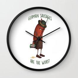 The Wurst Wall Clock
