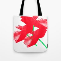 poppies Tote Bags featuring Poppies by Vitta