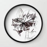shinee Wall Clocks featuring eyes by helenwidjaja