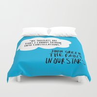 fault in our stars Duvet Covers featuring The Fault In Our Stars (Special Edition) by CATHERINE DONOHUE