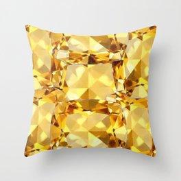 CHAMPAGNE TOPAZ GEM SEPTEMBER BIRTHSTONE ART Throw Pillow