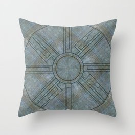 Ruin floor Throw Pillow