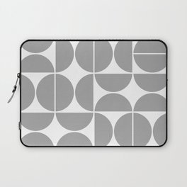 Mid Century Modern Geometric 04 Grey Laptop Sleeve