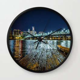 Lonely on the Dock Wall Clock