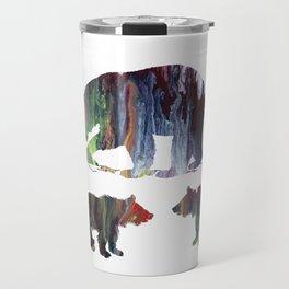 Bear Mother And Cubs Travel Mug