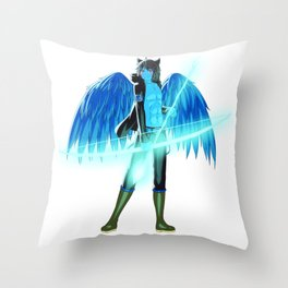 Luc Ready for Battle (No Background) Throw Pillow