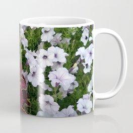 Burgundy & White Flowers 001 Coffee Mug