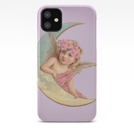 Victorian Moon Angel iPhone Case