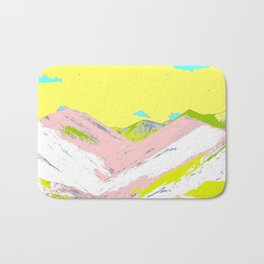 Soft Color Mountain Bath Mat