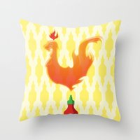 sriracha Throw Pillows featuring Sriracha by Myth