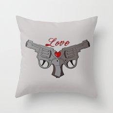 Love Guns Throw Pillow