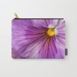 Purple Pansy Flower Close-up #decor #society6 #buyart Carry-All Pouch