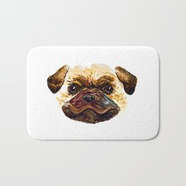 Smiley Pug Bath Mat