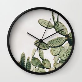 Cactus on blue sky #society6 #decor #buyart Wall Clock