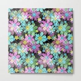 Floral pattern on a dark background. Metal Print