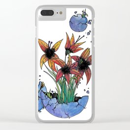 Egg Flower Clear iPhone Case