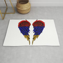 Armenian wings art Rug