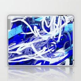 Blue & White Abstract Laptop & iPad Skin
