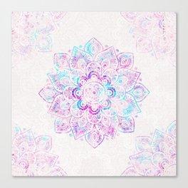 Winter Fiery Mandala Canvas Print