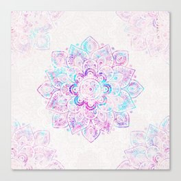 Winter Fiery Mandala Canvas Print