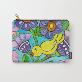 Springtime Series #5 Singing Bird Carry-All Pouch
