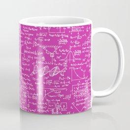 Physics Equations on Pink Coffee Mug