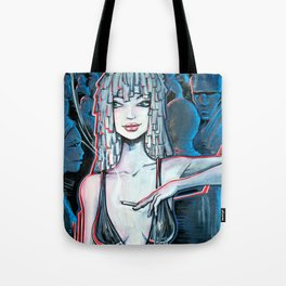 Night life blue Tote Bag
