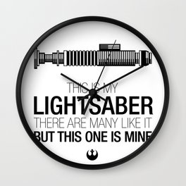 This is my Lightsaber (Luke Version) Wall Clock