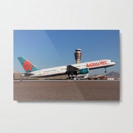 America West Airlines 757-200 takeoff photo Metal Print